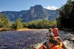 Full Day Expedition to Angel Falls by the river